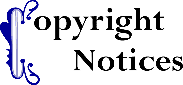 Copyright Notices (Link to Table of Contents)